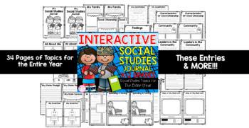 K-2 Grade Interactive Social Studies Journal & Foldable Bundle