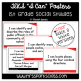 "1st Grade Social Studies TEKS ""I Can"" Statement Posters"