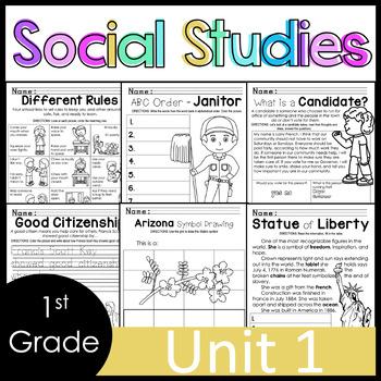 1st Grade - Social Studies - Unit 1 - Rules, Laws, Citizenship, Community