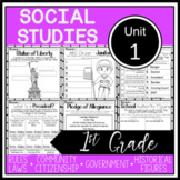 1st Grade - Social Studies - Unit 1 - Rules, Laws, Community, Government, more