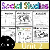 1st Grade - Social Studies - Unit 2 - Maps, Landforms, Natural Resources, more
