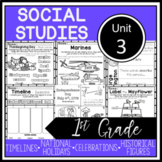 1st Grade - Social Studies - Unit 3 - Holidays, Time, Chronology, more