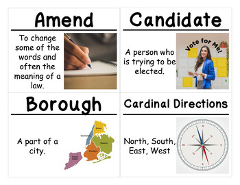 1st Grade Social Studies Vocabulary Cards: Families in Communities