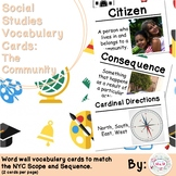 1st Grade Social Studies Vocabulary Cards: Families in Communities (Large)