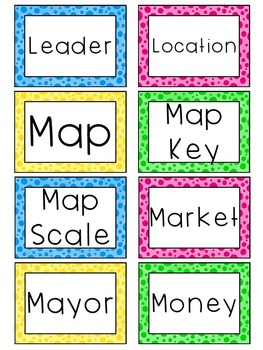 1st Grade Social Studies Word Wall