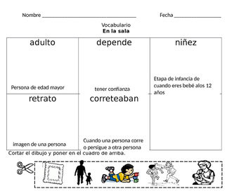 1st Grade Spanish Pearson Vocabulary Words Assigments