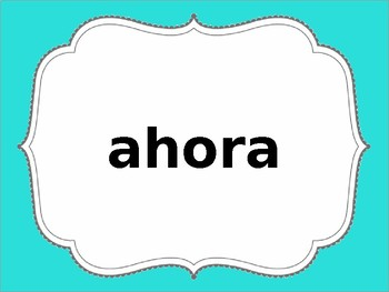 1st Grade Spanish Site Words