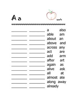 1st Grade Speedy Word Handbook