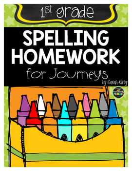 1st Grade Spelling Homework for Journeys