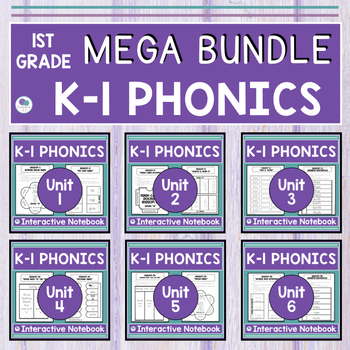 Phonics and Spelling Interactive Notebook BUNDLE Units 1-6