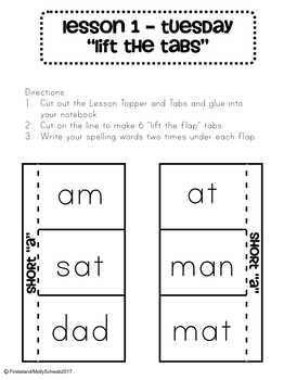 1st Grade Spelling Interactive Notebook - Unit 1  - Ailgned to Journeys
