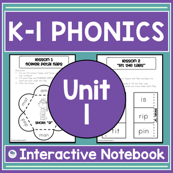 Phonics and Spelling Interactive Notebook  - Unit 1