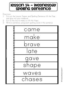 Phonics and Spelling Interactive Notebook Unt 3