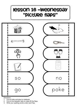 Phonics and Spelling Interactive Notebook Unit 4