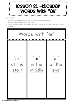 Phonics and Spelling Interactive Notebook Unit 5