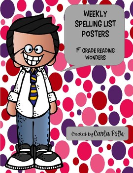 1st Grade Spelling List Posters