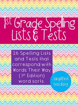 1st Grade Spelling Lists {Simplified Teaching}
