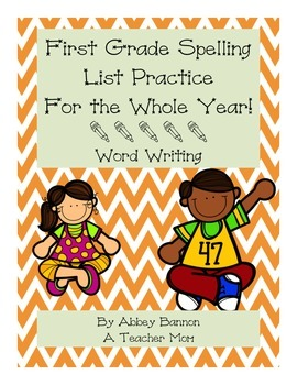 1st Grade Spelling Practice For the Whole Year -  Word Writing