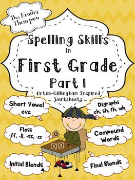 1st Grade Spelling Skills Part 1: Orton-Gillingham Inspired