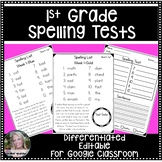 1st Grade Differentiated Spelling Through the Year