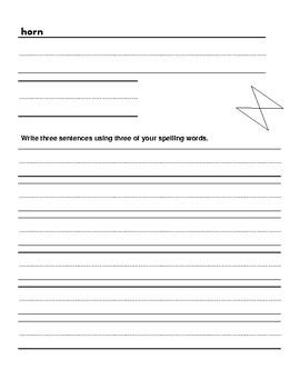 1st Grade Spelling Word Activity