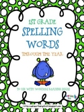 1st Grade Spelling Words for Wonders (2014) Reading Series
