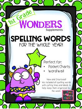 1st Grade Spelling Words for Wonders Reading Series