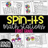 1st Grade Spin-Its Math Stations Yearlong GROWING Bundle