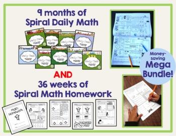 1st Grade Spiral Math MEGA BUNDLE