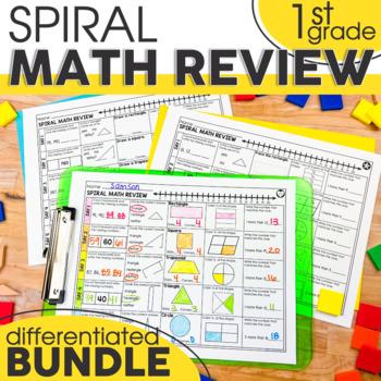 1st Grade Math Spiral Review | 1st Grade Homework | Distance Learning