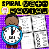 1st Grade Spiraled Differentiated Math Review Set 1 Back to School