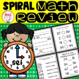 1st Grade Spiraled Differentiated Math Review Set 3
