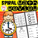 1st Grade Spiraled Differentiated Math Review Set 4