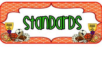 1st Grade Sports Standards COMMON CORE