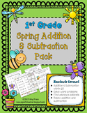 1st Grade Spring Addition/ Subtraction Pack