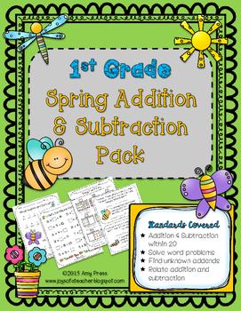 1st Grade Spring Addition/ Subtraction Pack