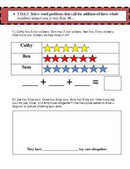 1st Grade Spring Common Core Assessment- Math