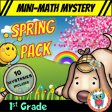 1st Grade Spring Packet of Mini Math Mysteries (Printable
