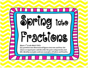 1st Grade Spring into Fractions