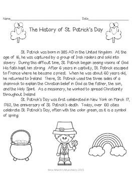 1st Grade St. Patrick's Day Bundle