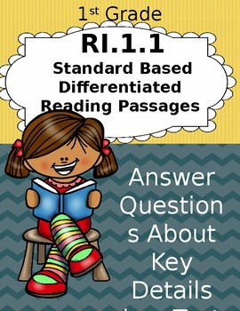 1st Grade Standard Based Differentiated Passages