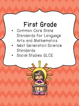 1st Grade Standards Binder: Common Core, Next Generation and GLCE's