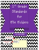 1st Grade Standards for File Folders