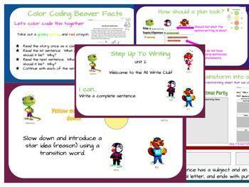 1st Grade Step Up To Writing Unit 6 Lesson Plan Slides