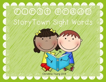 1st Grade StoryTown High Frequency Word Cards