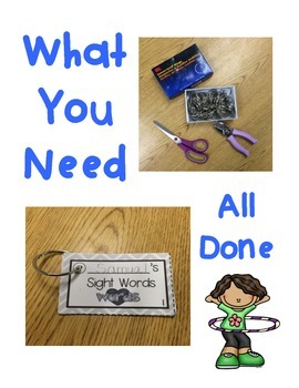 1st Grade Storytown Sight Word Flashcards Lessons 1-30