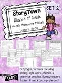 1st Grade Storytown Weekly HW Weeks 16-30