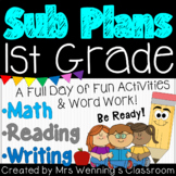 1st Grade Sub Plans (1 Day)