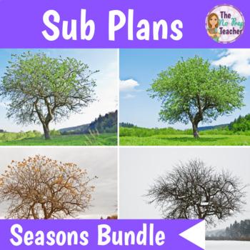 Sub Plans 1st Grade Four Seasons Bundle