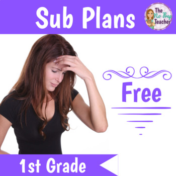 1st Grade Sub Plans Free by First Grade First
